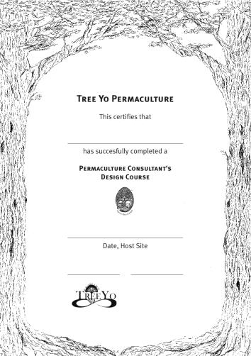 TreeYo PDC certificate