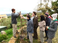 teaching A frame construction for swales, Portugal 2009