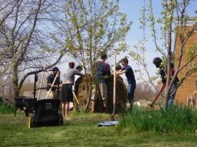 Hot Composting at Maharishi University of Management, Iowa, USA 2011