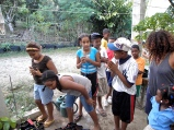 Working with local kids, Dominican Republic, 2013