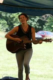 Dina preforming at Pollination Festival, Treasure Lake, 2014