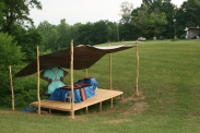 The stage packed up after Pollination Festival, Treasure Lake, 2014