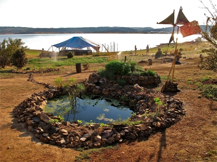 BOOM Festival lined pond, Healing Area, Portugal 2010