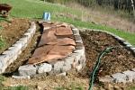 sheet mulching in terraces, Ohio, USA 2011