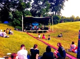The valley stage where the music mostly took place at Pollination Festival, Treasure Lake, 2014