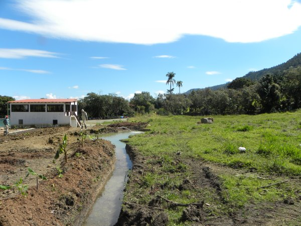 Pond with Swale extension, Dominican Republic