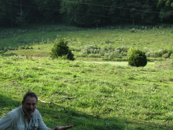 Kirk gadzia surveying a overgrazed pasture