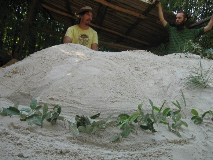 sand pit permaculture keyline