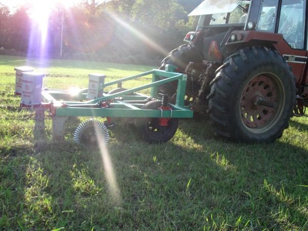 keyline plow and tractor
