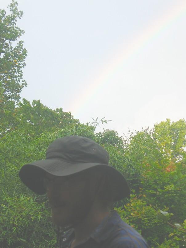 Brad Lancaster with Rainbow
