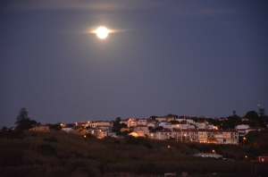 Almocageme, Portugal under the moon on a walk back from the beach