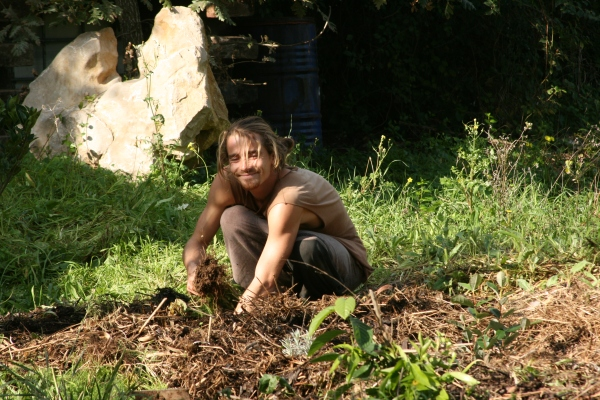 Henrik full in with the feijoa planting