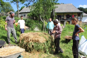 hot compost making, 2016 PDC