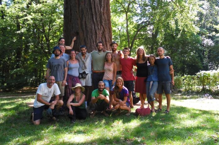 Class Photo at the Botanical Gardens in Banska