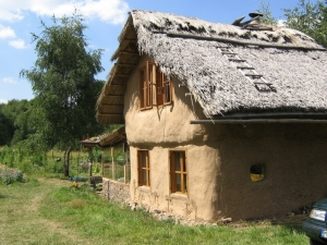 Strawbale in the village