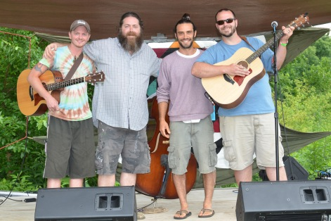 Doug on stage with his local Kentucky mates, Pollination Fest