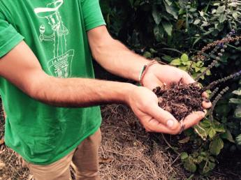 Doug Crouch's Hands in the soil built from the years of hard work