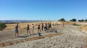 Karma Yoga Session in September 2016 for digging sunken terrace beds