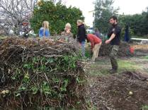 Hot Compost Pile, one of our hands on sessions