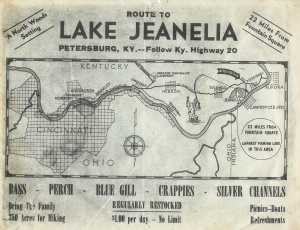 The old map for the initial lake built in 1947