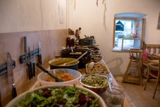 the amazing food, photo by Leigh Vukov