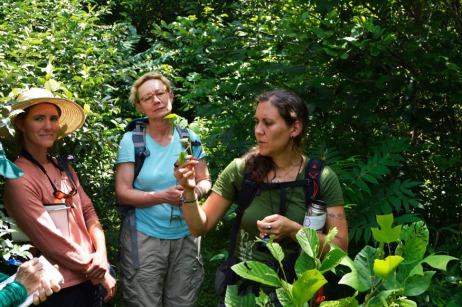 Abby leading plant talks