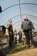 At the greenhouse at Wakethefarmup, Photo credit Chris Smyth