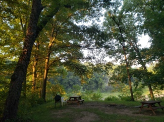 Campsite 2, early morning